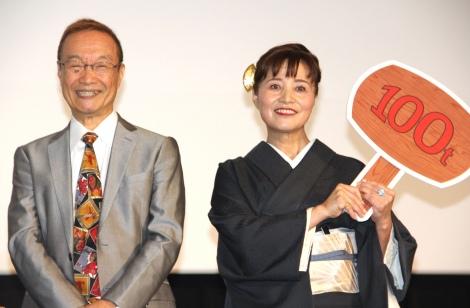 (左から)神谷明、伊倉一恵=実写映画『シティーハンター THE MOVIE 史上最香のミッション』完成披露イベント (C)ORICON NewS inc.