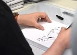 田中将賀氏が描く「しんの」=劇場版アニメ『空の青さを知る人よ』スタジオ訪問 (C)ORICON NewS inc.