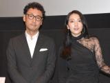 『どすこい!すけひら』舞台あいさつに参加した(左から)宮脇亮監督、知英 (C)ORICON NewS inc.