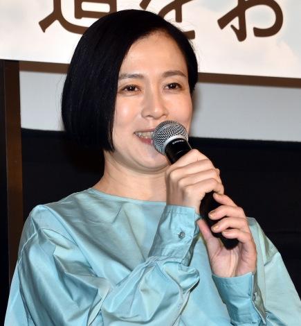 『駅までの道をおしえて』公開記念舞台あいさつに出席した坂井真紀 (C)ORICON NewS inc.