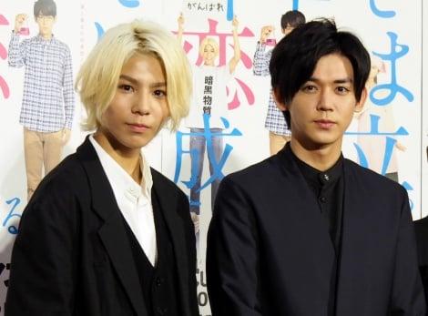 お互い褒め合った(左から)ラウール、小瀧望=NHK総合よるドラ『決してマネしないでください。』試写会 (C)ORICON NewS inc.