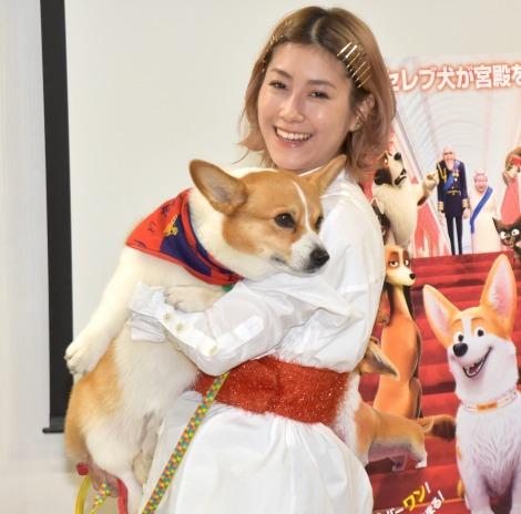 愛犬のバルーは家族以上の存在と語ったIMALU=映画『ロイヤルコーギー レックスの大冒険』の愛犬同伴イベント (C)ORICON NewS inc.