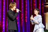 TBS 『有田哲平と高嶋ちさ子の人生イロイロ超会議』に登場した(左から)浦井健治、宮澤エマ(C)TBS
