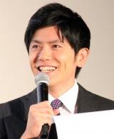 『ブラック校則』完成披露試写会舞台あいさつに登場した青木源太アナ (C)ORICON NewS inc.