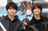 『ブラック校則』の高校生限定イベントに登場した(左から)佐藤勝利、高橋海人 (C)ORICON NewS inc.