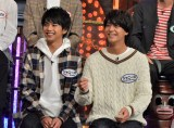 佐藤勝利(Sexy Zone)、��橋海人(King & Prince)が24日放送の『ダウンタウンDX』に出演 (C)読売テレビ