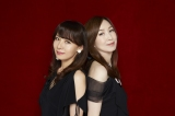 """(左から)鮎川麻弥と森口博子のコラボ写真テーマは""""シャア"""""""