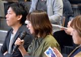 基調講演会開催前のメディア向け取材会で質問する笹木香利 (C)ORICON NewS inc.