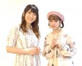 (左から)加藤恵役の安野希世乃、主題歌を歌う春奈るな (C)ORICON NewS inc.