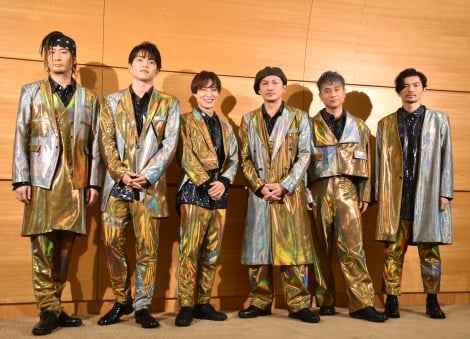 『LIVE DA PUMP 2019 Funky Tricky Party』公演前囲み取材に出席したDA PUMP (C)ORICON NewS inc.