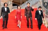 『第32回東京国際映画祭』のレッドカーペットに登場した(左から)冲方丁氏、花澤香菜、宮野真守、木崎文智監督 (C)ORICON NewS inc.