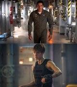 『ターミネーター:ニュー・フェイト』(11月8日公開)最凶の新型ターミネーター・REV-9(上)と、スーパーソルジャー・グレース(下)