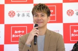 『幸楽苑×おやつカンパニーコラボ商品プレス発表会』登場したJOY