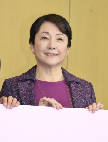 TBS新春ドラマ特別企画『あしたの家族』制作発表会に登壇した松坂慶子(C)ORICON NewS inc.
