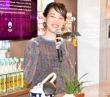 『本格焼酎3社×BEAMS JAPAN「焼酎のススメ。」』の発表会に出席したのん (C)ORICON NewS inc.