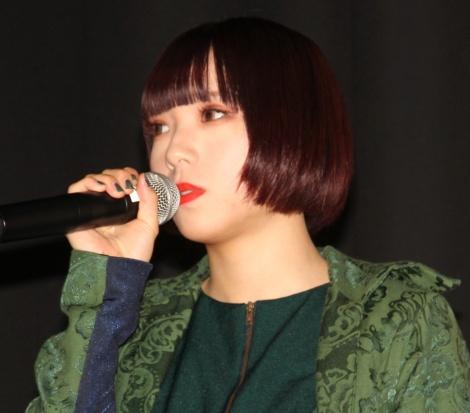 映画『IDOL—あゝ無情—』舞台あいさつに登場したアユニ・D (C)ORICON NewS inc.
