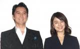 映画『マチネの終わりに』初日舞台あいさつに登場した(左から)福山雅治、石田ゆり子 (C)ORICON NewS inc.
