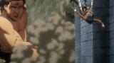 巨人化した長州力=スニッカーズと『進撃の巨人』コラボCMの場面カット