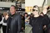 映画『ターミネーター:ニュー・フェイト』(11月8日公開)のプロモーションのため、アーノルド・シュワルツェネッガーとリンダ・ハミルトンが来日