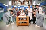 ドラマ『ドクターX〜外科医・大門未知子〜』キャスト陣が西田敏行の72歳誕生日を祝福(C)テレビ朝日