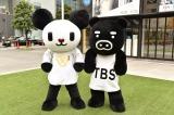 マスコットキャラクターのゴーちゃん。(テレビ朝日)、BooBo(ブーブ/TBS)も一緒に侍ジャパンを応援