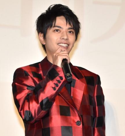 映画『ブラック校則』の初日舞台あいさつに出席した佐藤勝利 (C)ORICON NewS inc.