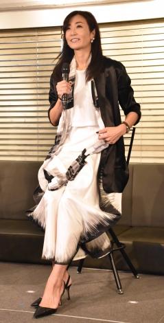 『キューサイ×Mr.FARMERコラボメニュー試食イベント』に出席した中島史恵 (C)ORICON NewS inc.