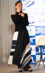 「いい刃の日」貝印創業111周年イベントに出席した内田理央 (C)ORICON NewS inc.