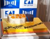 「いい刃の日」貝印創業111周年イベントに登場したケーキ (C)ORICON NewS inc.