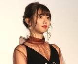 映画『羊とオオカミの恋と殺人』完成披露上映会に登場した江野沢愛美 (C)ORICON NewS inc.