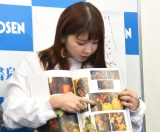 ドキュメンタリーフォトブック『アンジュルムと書いて、青春と読む。』発売記念イベントに出席した竹内朱莉 (C)ORICON NewS inc.