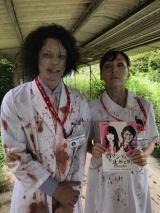 金曜ナイトドラマ『時効警察はじめました』第4話はゾンビ回。オダギリジョーと麻生久美子のガッツリゾンビメイク(C)テレビ朝日