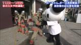 テレビ朝日マスコットキャラクター ゴーちゃん。が一日消防隊長に! 消防署のお仕事体験も(C)2011 tv asahi・SANRIO