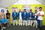 『大阪パフェ』に出演した(左から)月亭方正、間寛平、ET-KING、たむらけんじ