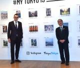 『#MY TOKYO IS___(マイ トーキョー イズ)』の発表イベントに登場した(左から)アダム・モッセーリ氏、多羅尾光睦副知事 (C)ORICON NewS inc.