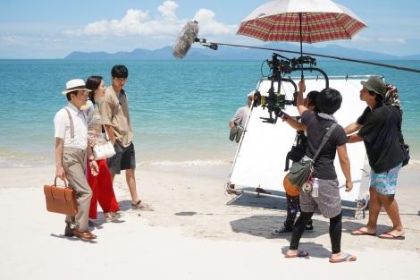映画『コンフィデンスマンJP』ランカウイ島での撮影の様子(C)2020「コンフィデンスマンJP」製作委員会