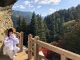 『#BiSHお遍路』で愛媛県内の霊場巡りをしたアユニ・D