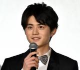 映画『蜜蜂と遠雷』の初日舞台あいさつに登壇した鈴鹿央士 (C)ORICON NewS inc.