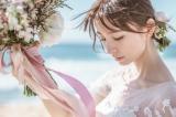 ウエディングドレス姿を披露した篠田麻里子