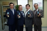 (左から)高橋英樹、伊達みきお、富澤たけし、高田純次(C)テレビ朝日