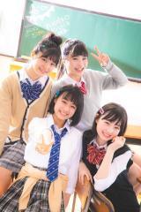 「コミックニコラ」をスタートさせるニコモ(左上から時計回りに)セイカ、マホ、リナ、ナルミ(C)ニコラ2019年4月号