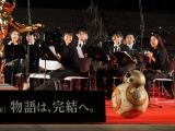 『スター・ウォーズ/スカイウォーカーの夜明け』成功祈願に登場したBB-8に吹奏楽団の皆さんも笑顔 (C)ORICON NewS inc.
