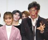 映画『ゾンビランド』ダブルタップ』公開記念イベントに登場した(左から)安達祐実、小島よしお (C)ORICON NewS inc.