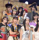 舞台「演劇女子部『リボーン〜13人の魂は神様の夢を見る〜』」ゲネプロ前囲みの模様