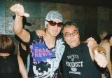 2009年目黒ブルースアレイでのライブより(左から)佐藤浩市、原田芳雄さん