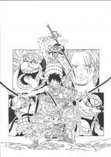 コミックス『ONE PIECE』95巻(12月28日発売)の線画(C)尾田栄一郎/集英社
