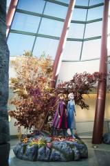 ウォルト・ディズニー・スタジオも『アナと雪の女王2』に合わせて秋の世界に一変 エントランスにはエルサとアナのフィギュアも登場(C)2019 Disney. All Rights Reserved.KaoriSuzuki