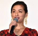 映画『影踏み』公開記念舞台あいさつに登壇した尾野真千子 (C)ORICON NewS inc.