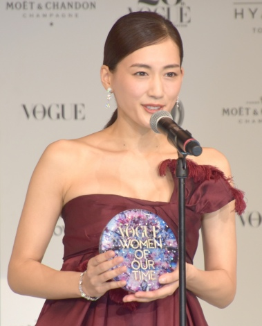 『VOGUE JAPAN WOMEN OF OUR TIME』を受賞した綾瀬はるか (C)ORICON NewS inc.