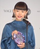 『VOGUE JAPAN WOMEN OF THE YEAR 2019』を受賞した杉咲花 (C)ORICON NewS inc.